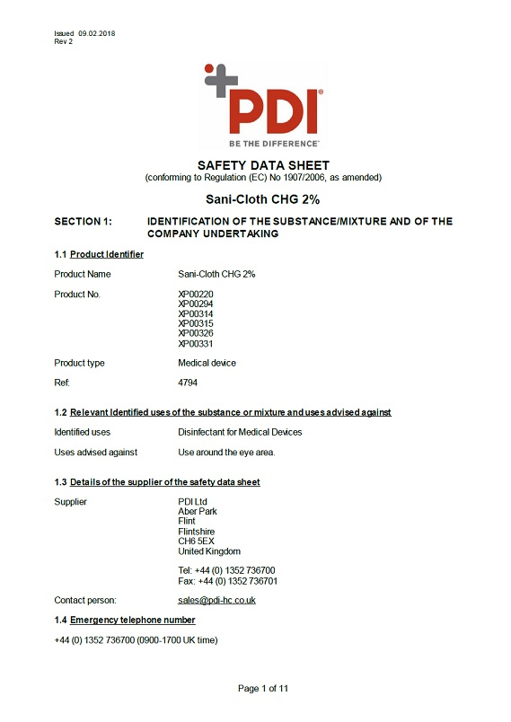 9837 Solvent Wipes for Surface Preparation Sachets MSDS