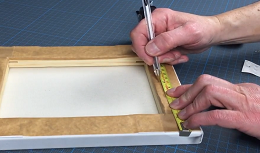 Measure canvas frame stand